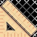 Set Square Degree Square Geometry Icon