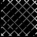 Set Square Degree Square Geometry Tool Icon