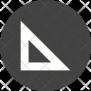 Set Square Triangle Icon