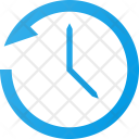 Set time anti-clockwise Icon