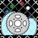 Cog Wheel Setting Technical Symbol Icon