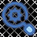 Setting Gear Search Icon
