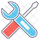 Setting Wrench Screwdriver Icon