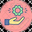 Gear Hand Setting Icon