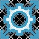 Gear Arrows Cog Icon