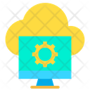 Cloud Setting Computer Icon