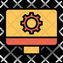 Computer Configuration Gear Icon