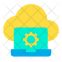 Cloud Setting Laptop Icon