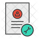 Settings Options Document Icon