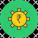 Settings Rupee Banking Icon