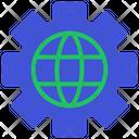 Settings Global Optimization Globe Icon