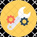 Settings Spanner Cogwheel Icon