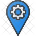 Settings Pin Geolocation Icon