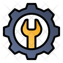 Settings Gear Wrench Icon