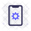 Mobile Gear Settings Icon