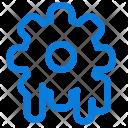 Settings Cogwheel Melting Icon