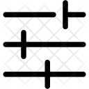Settings Sliders Horizontal Icon