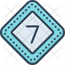 Seven Numerical Number Icon