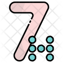 Seven 7 Number Icon