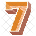 Seven Number Numeric Icon