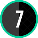 Seven Number Count Icon