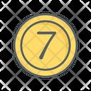 Seven Coin Icon