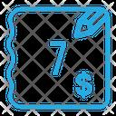 Seven Dollar Bill Icon