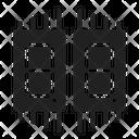 Seven Segment Component Electric Icon