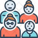 Several Individual People Icon