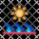 Several Solar Panels Icon