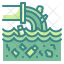 Sewer Waste Ecology Factory Pollution Icon