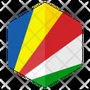 Seychelles Flag Hexagon Icon