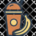 Shake Healthy Banana Icon