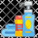 Shampoo Wash Cleanse Hair Bathroom Shower Bottle Icon