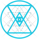Sri Yantra Shape Icon
