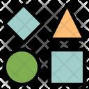 Bricks Geometric Shapes Icon