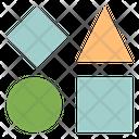 Shape Blocks Geometric Shape Bricks Icon