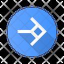 Arrow Shaped Square Icon