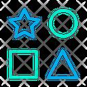 Star Circle Squre Icon