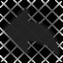 Arrow Share Back Icon