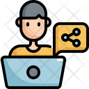 Share Laptop Working Icon
