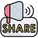Share Sharing Announcement Icon