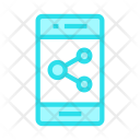 Mobile Share Connect Icon