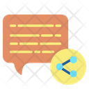 Share Uploadm Share Chat Chat Sharing Icon