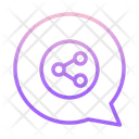 Share Chatm Share Chat Chat Sharing Icon