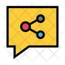 Share Bubble Connection Icon