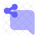 Share-chat-bubble Icon