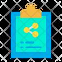 Clipboard Share Transfer Icon