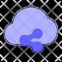 Share Cloud Share Cloud Data Share Icon