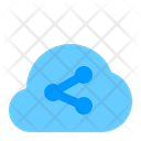 Share Cloud Data Icon